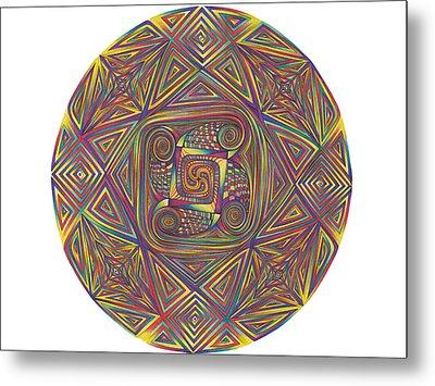 Symmetry Four Metal Print by diNo
