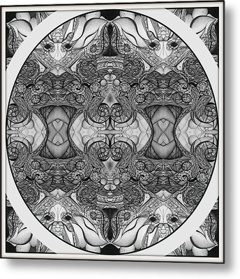 Symmetry  In Black And White Metal Print by Jack Dillhunt