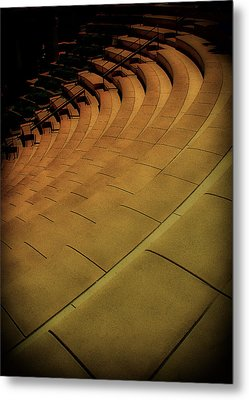 Symmetry Seating Metal Print by Joseph Hollingsworth
