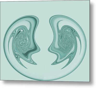 Symmetry Metal Print by Soumya Bouchachi