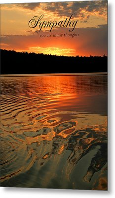 Sympathy Card Metal Print by Barbara West