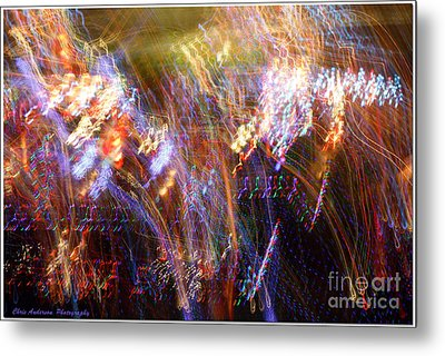 Symphonic Light Abstraction  Metal Print by Chris Anderson