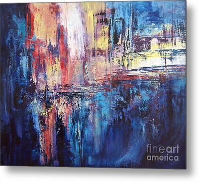 Symphony In Blue Metal Print by Valerie Travers