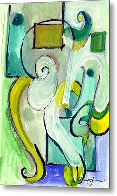 Symphony In Green Metal Print