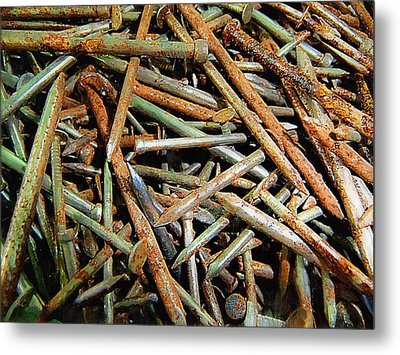 Symphony In Rusty Nails Metal Print by RC deWinter