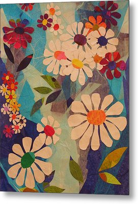 Metal Print featuring the mixed media Symphony Of Flowers by Diane Miller
