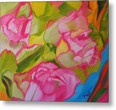 Symphony Of Roses Metal Print by Meryl Goudey