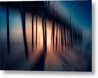 Symphony Of Shadow - A Tranquil Moments Landscape Metal Print