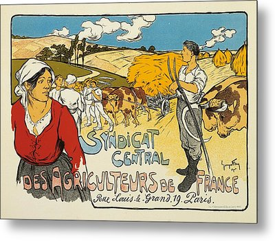 Syndicat Central Des Agriculteurs De France Metal Print by George Fay