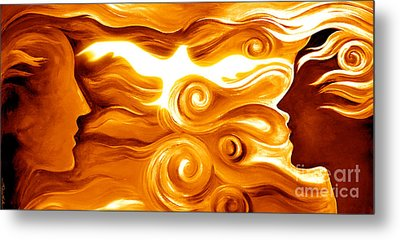 Synergy In Love Metal Print by Gem S Visionary