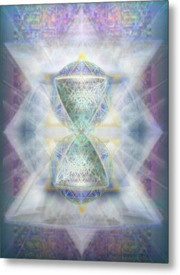 Synthesphered Chalice Fifouray Star On Tapestry Metal Print by Christopher Pringer