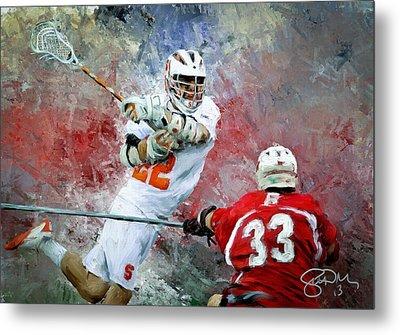 College Lacrosse 5 Metal Print