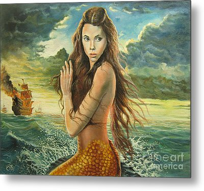 Syrena From Pirates Of The Caribbean Metal Print by Osi