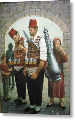 Metal Print featuring the painting Syrian Folklore by Laila Awad Jamaleldin