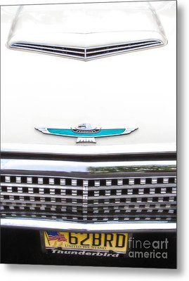 T-bird Hood Metal Print by Jerry Fornarotto