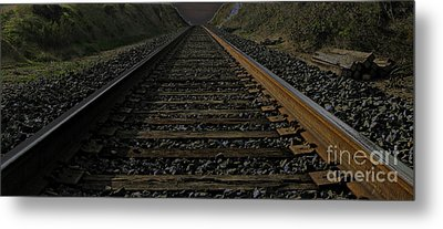 Metal Print featuring the photograph T Rails by Janice Westerberg