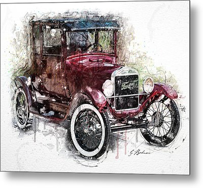 The 1926 Ford Model T Metal Print by Gary Bodnar