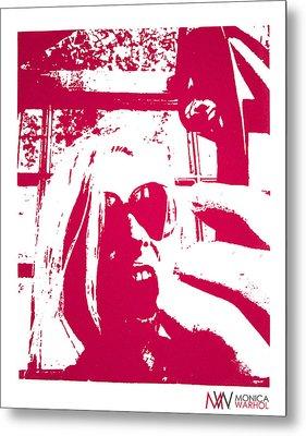 Ta Ta Telephone Metal Print by Monica Warhol
