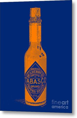 Tabasco Sauce 20130402grd2 Metal Print by Wingsdomain Art and Photography