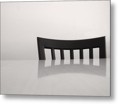 Table And Chair Metal Print