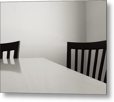 Table And Chairs Metal Print by Don Spenner