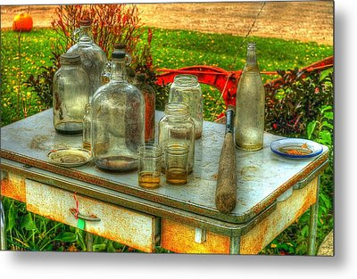 Table Collections Metal Print