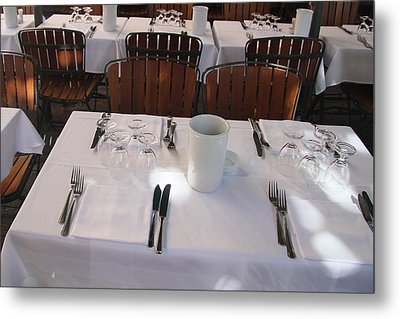 Table For Four Metal Print by John Bushnell