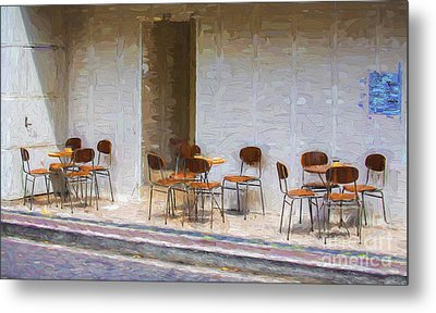 Table For Four Metal Print by Avalon Fine Art Photography