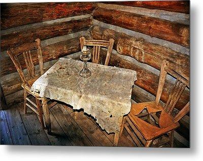Table For Three Metal Print by Marty Koch