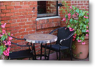 Metal Print featuring the photograph Table For Two by Cynthia Guinn