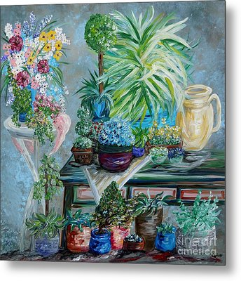 Table Of A Plant Lover Metal Print by Eloise Schneider