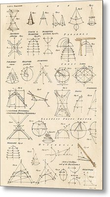 Table Of Conics Metal Print by David Parker