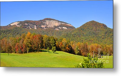 Table Rock In Autumn Metal Print