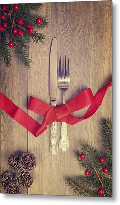 Table Setting Metal Print by Amanda Elwell