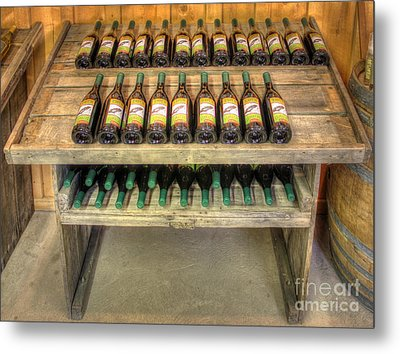 Table Wine Metal Print by Bob Hislop