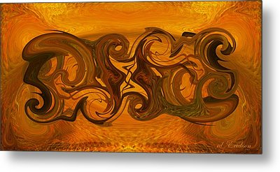 Tablet Xii Metal Print by rd Erickson