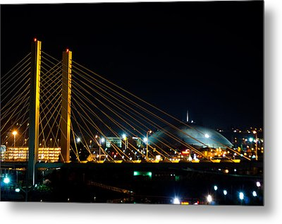 Metal Print featuring the photograph Tacoma Dome And Bridge by Tikvah's Hope