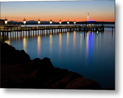 Tacoma Sunset Metal Print by Bob Noble Photography