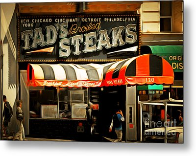 Tads Broiled Steaks Restaurant San Francisco 5d17955brun Metal Print by Wingsdomain Art and Photography