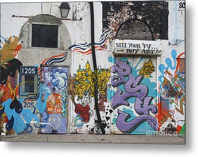 Tagging North Philly Metal Print by Christopher Woods