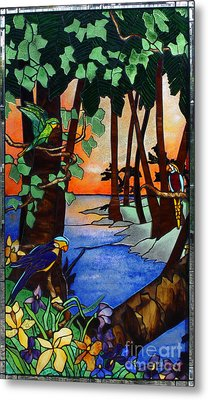 Tahiti Window Metal Print by Peter Piatt