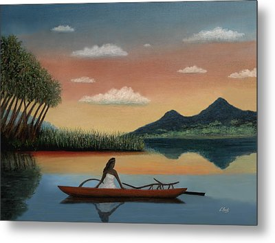 Tahitian Morning Metal Print