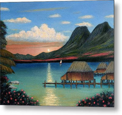 Tahitian Sunset Metal Print