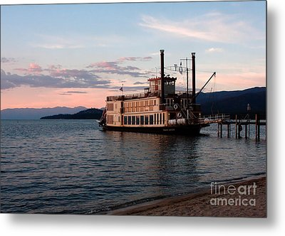 Metal Print featuring the photograph Tahoe Queen Riverboat On Lake Tahoe California by Paul Topp