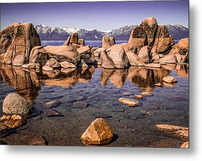 Metal Print featuring the photograph Tahoe Reflections by Steven Bateson