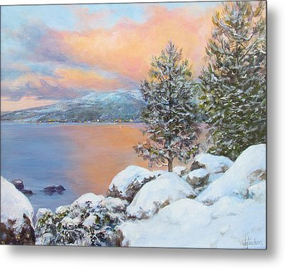Tahoe Winter Colors Metal Print by Donna Tucker