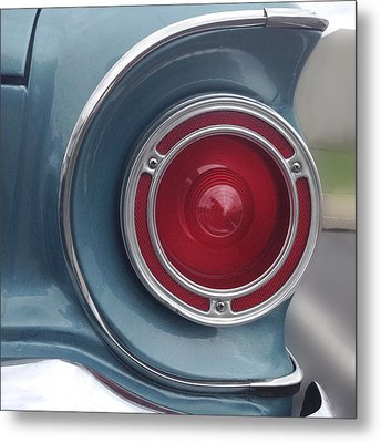 Tail Light Ford Falcon 1961 Metal Print by Don Spenner