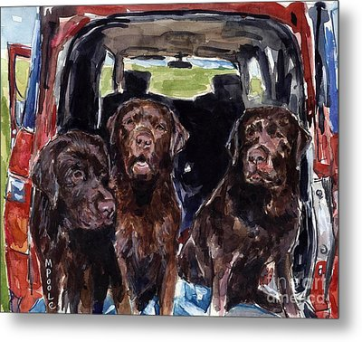 Tailgaters Metal Print by Molly Poole
