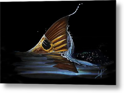 Tailing Redfish Metal Print by Nick Laferriere