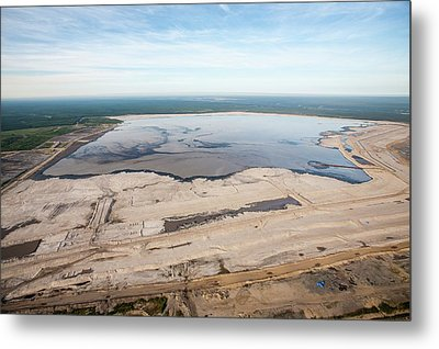 Tailings Pond Metal Print by Ashley Cooper